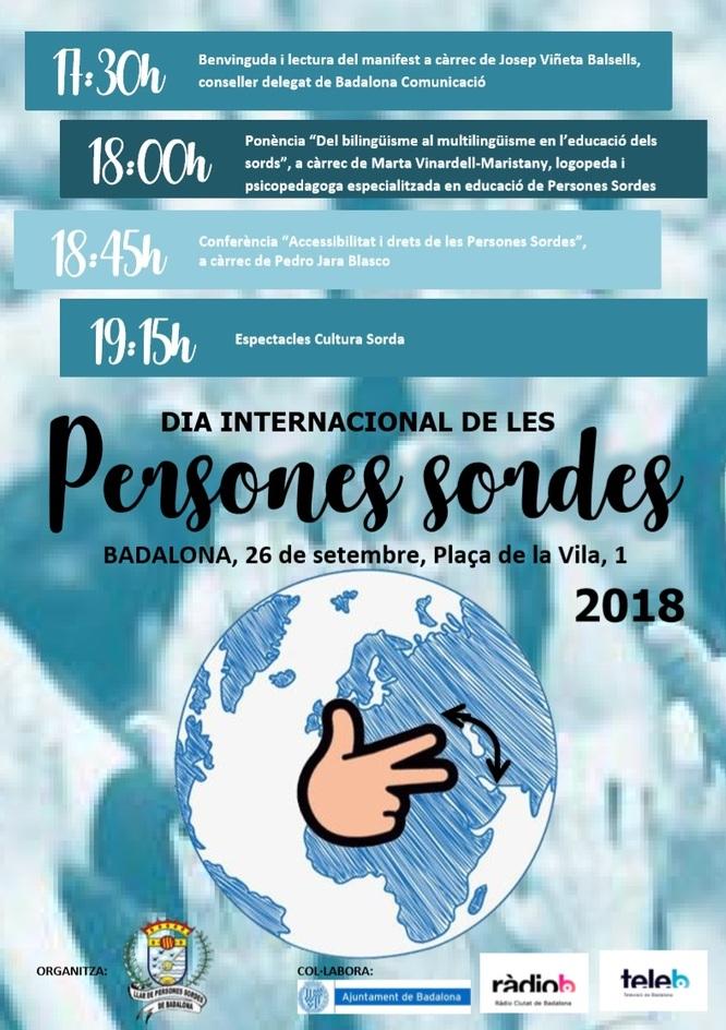 Dia Internacional de les Persones Sordes a Badalona