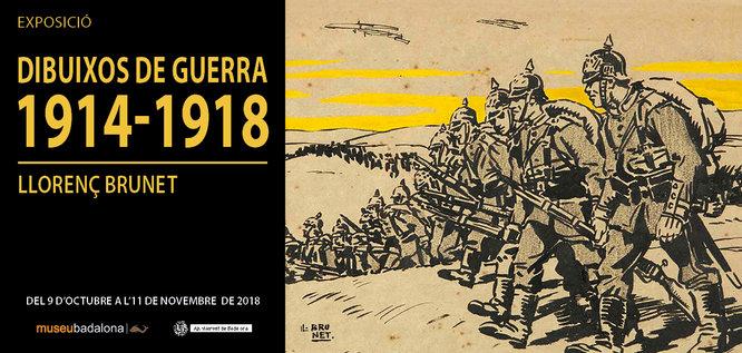 """L'exposició """"Dibuixos de guerra 1914-1918. Llorenç Brunet"""" s'inaugura dimarts 9 d'octubre al Museu de Badalona"""