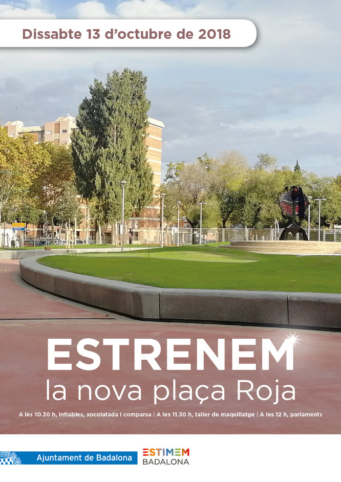 La plaça Roja de Sant Roc s'inaugura aquest dissabte després d'una profunda remodelació