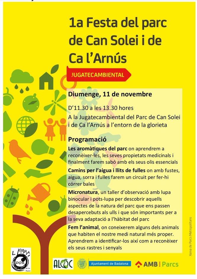 Activitats per aquest diumenge, 11 de novembre, als parcs de Badalona
