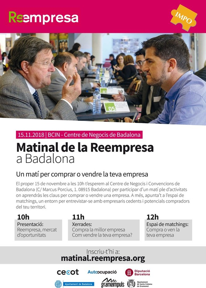 El Centre de Negocis i Convencions de Badalona acull aquest dijous, 15 de novembre, La Matinal de la Reempresa