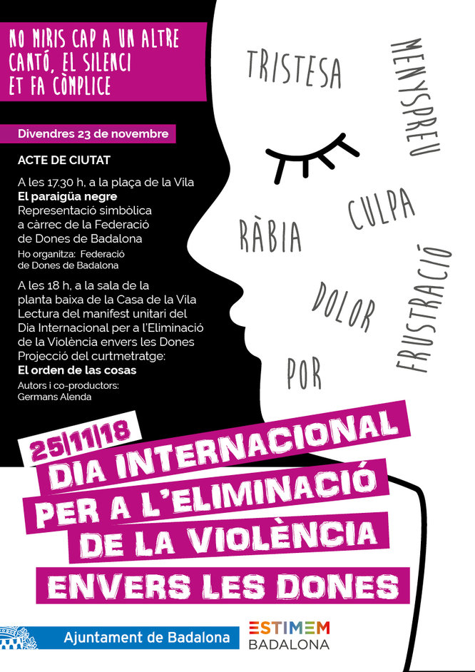 Badalona commemora el Dia Internacional per a l'Eliminació de la Violència envers les Dones