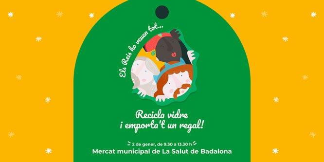 Aquestes festes, reciclar vidre tindrà premi als mercats municipals La Salut i Sant Roc de Badalona