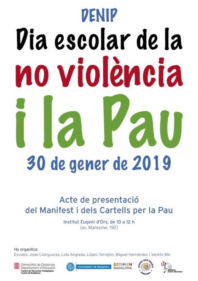 Les escoles de Badalona celebren aquest dimecres el Dia Escolar de la No Violència i la Pau