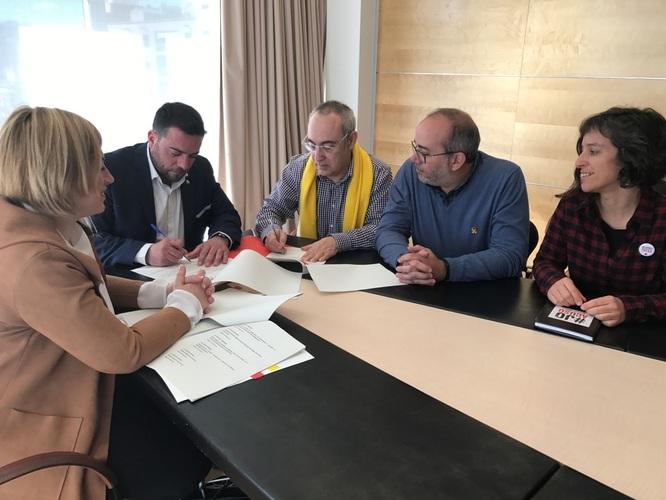 El Govern municipal i ERC-Avancem-MES arriben a un acord per a l'aprovació del pressupost 2019