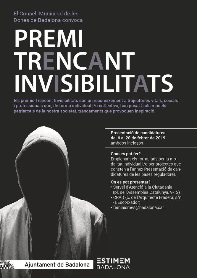 S'obre el termini per presentar les candidatures als premis Trencant Invisibilitats