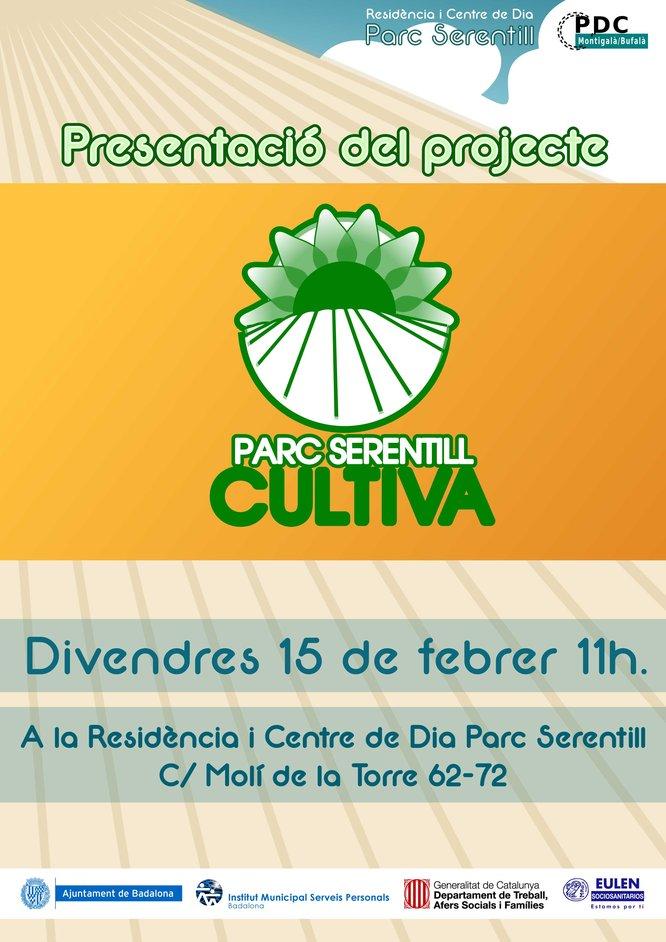 """Es presenta el projecte d'hort social i ecològic """"Parc Serentill Cultiva"""""""