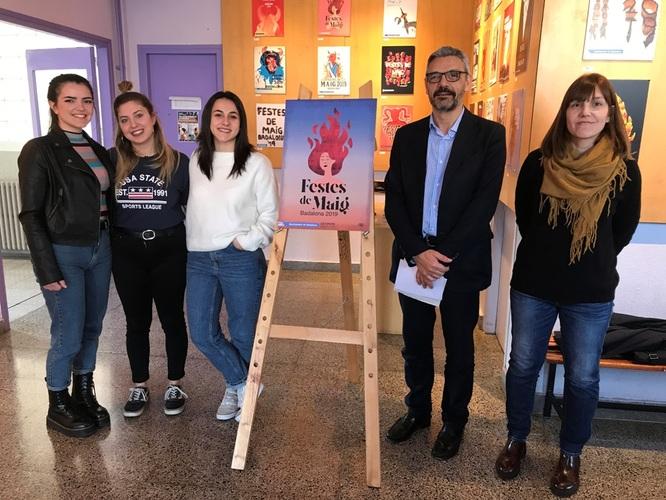 Avui s'ha presentat el cartell de les Festes de Maig de Badalona 2019, obra d'Alba Cortegano Monge