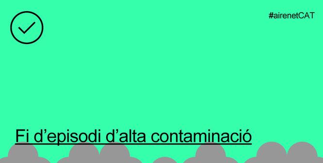Territori i Sostenibilitat desactiva el protocol per alta contaminació a 40 municipis de la conurbació de Barcelona