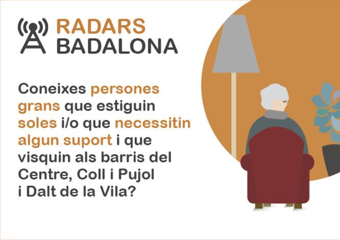 """Badalona crea una xarxa comunitària i de prevenció per reduir el risc de soledat i aïllament de la gent gran amb el projecte """"Radars Badalona"""""""