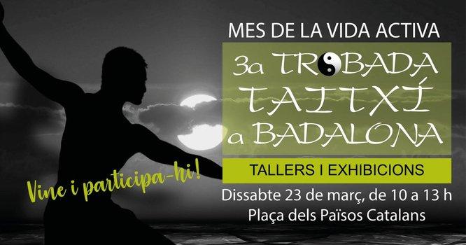 La plaça dels Països Catalans acollirà dissabte 23 de març la 3a trobada de taitxí a Badalona