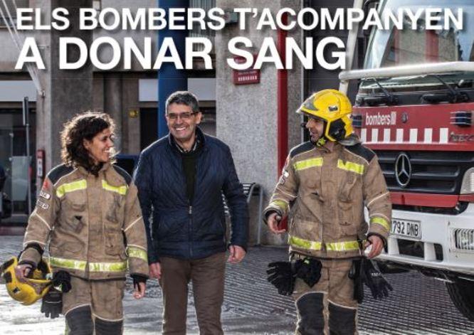 Badalona participa aquest dissabte en la campanya Els Bombers t'acompanyen a donar sang