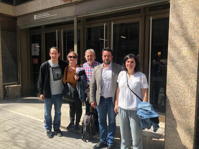 L'alcalde de Badalona i representants de centres educatius i FAMPAS s'han reunit aquest dilluns amb la direcció de Serveis Territorials d'Educació a Barcelona Comarques