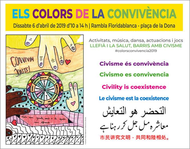 """Dissabte 6 d'abril Badalona celebra la jornada festiva """"Els Colors de la Convivència"""""""