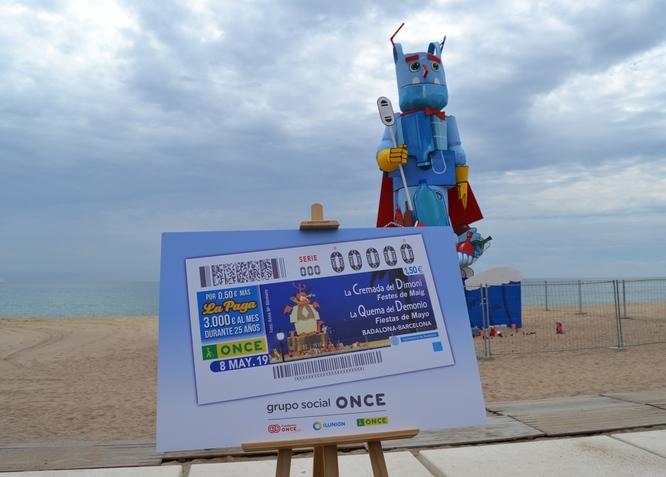 L'ONCE presenta a Badalona un cupó dedicat a l'acte de la Cremada Dimoni