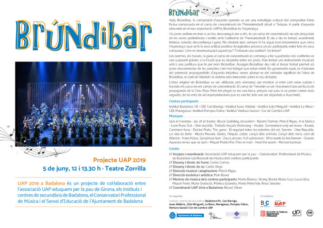 El Teatre Zorrilla acull dos concerts de Cors escolars i de secundària i el Principal la primera trobada de bandes de música moderna de les escoles de Badalona