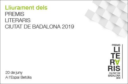 Lliurament del premis literaris Ciutat de Badalona 2019