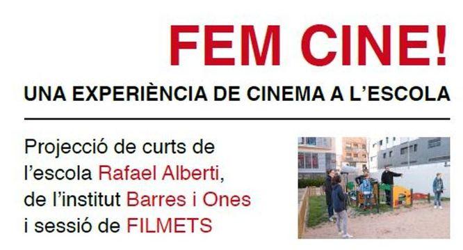 """Alumnes de l'escola Rafael Alberti i de l'Institut Barres i Ones presenten els curts realitzats durant aquest any dins del projecte """"Cinema en curs"""""""