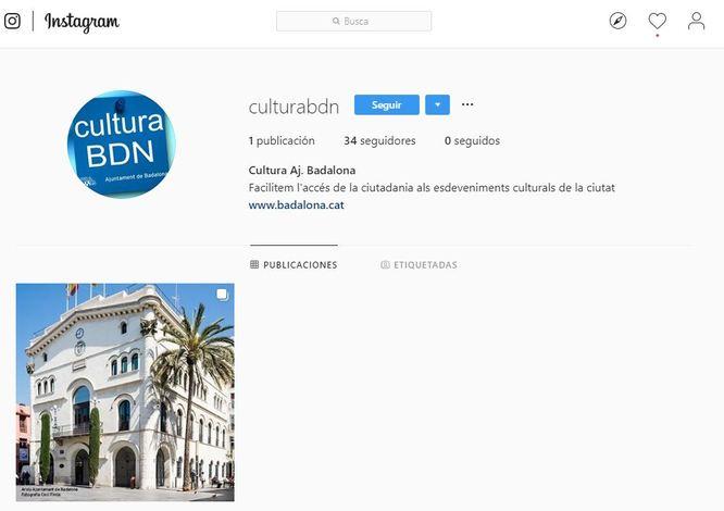 El Servei de Cultura de l'Ajuntament de Badalona obre un nou canal d'Instagram