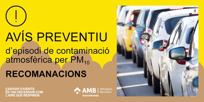 La Generalitat activa un avís preventiu per contaminació atmosfèrica a tot Catalunya