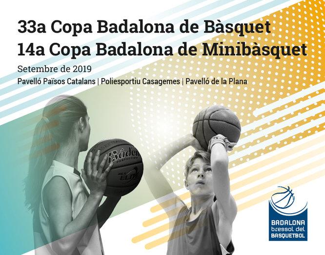Presentació de la 33a Copa Badalona de Bàsquet i la 14a Copa Badalona de Minibàsquet