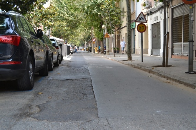 Badalona destina prop d'1,2 milions d'euros en obres de millora de l'asfaltat i el clavegueram