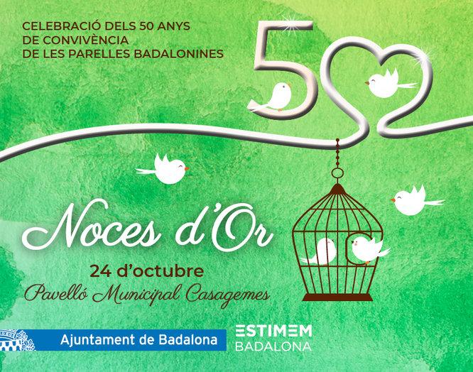 Badalona celebra la XXXIII edició de les Noces d'Or al poliesportiu de Casagemes