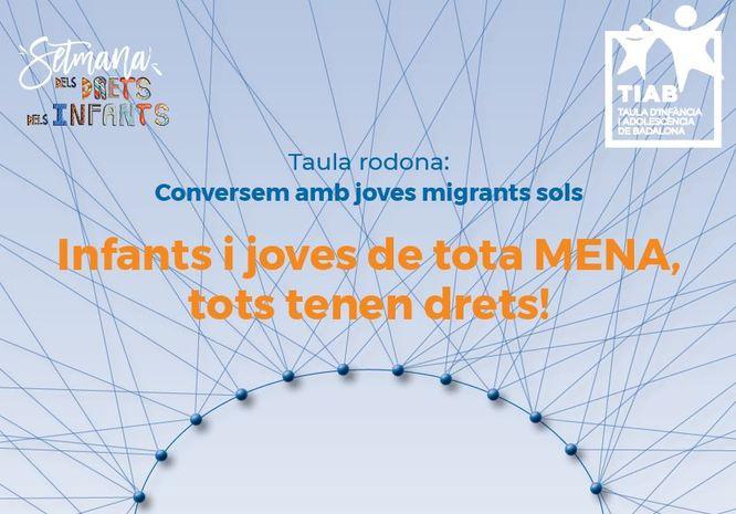 La Taula d'Infància i Adolescència de Badalona organitza una xerrada sobre els joves migrants sols