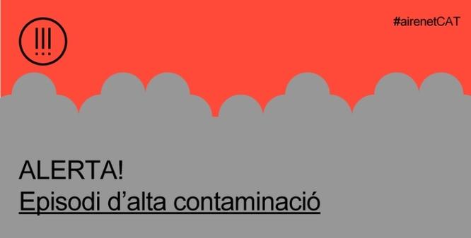 La Generalitat declara un episodi per alta contaminació per partícules