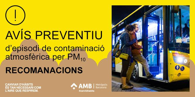 Generalitat i AMB activen un avís preventiu per contaminació de partícules de pols africana a Barcelona i la seva conurbació