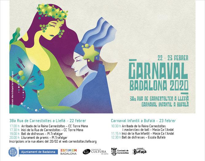 Dissabte 22 i diumenge dia 23 de febrer es celebrarà el Carnaval de Badalona 2020