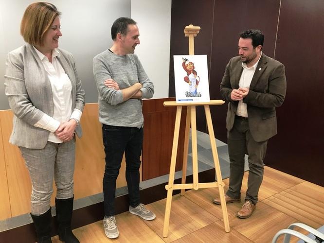 """El dissenyador gràfic badaloní Albert Navarro guanya el 22è concurs 'Crema'l tu!' amb l'obra """"Dimoni Moníssim"""""""