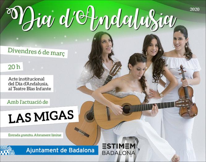 Badalona commemora el Dia d'Andalusia divendres 6 de març