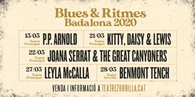 Arriba a Badalona, del 13 al 28 de març, la 31a edició del Festival Blues & Ritmes