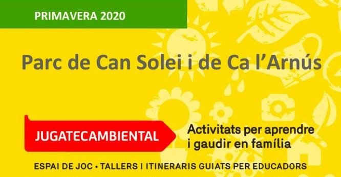 Diumenge es posa en marxa el cicle de primavera de la 'Jugatecambiental' del parc de Can Solei i de Ca l'Arnús de Badalona