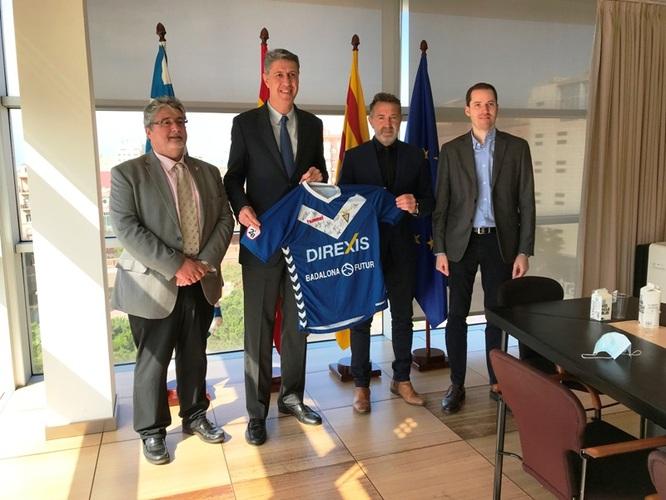 """L'Ajuntament i el CF Badalona signen la pròrroga del contracte de patrocini per a la difusió de la marca """"Badalona és futur"""""""
