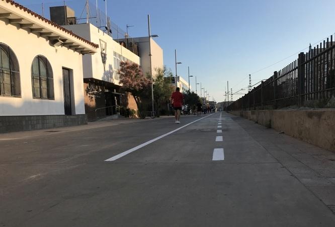 Badalona disposa des d'aquesta setmana d'un nou tram de carril bici entre el carrer del Mar i el carrer de Sant Ignasi de Loiola