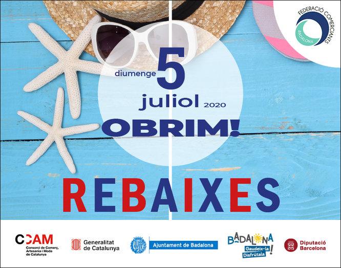 Els comerços de Badalona obriran diumenge 5 de juliol