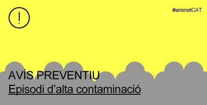 La Generalitat desactiva l'alerta per alta contaminació però manté activat l'avís preventiu per contaminació atmosfèrica a tot Catalunya