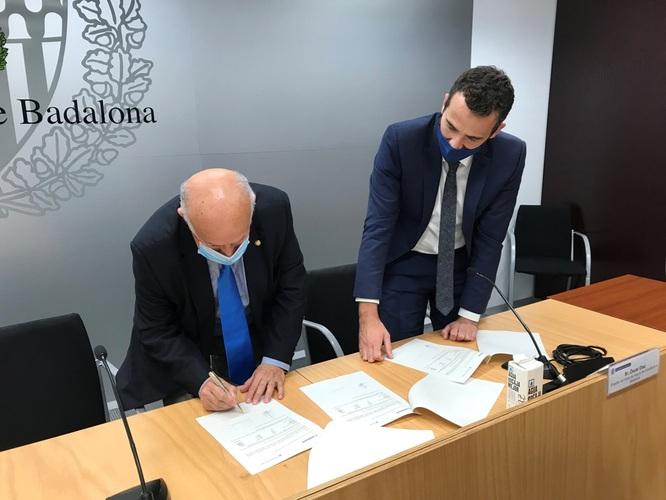 """El Programa d'Aliments dels Serveis Socials de l'Ajuntament de Badalona rep una aportació de 21.000 euros de la Fundació """"la Caixa"""" a través de l'Acció Social de CaixaBank"""