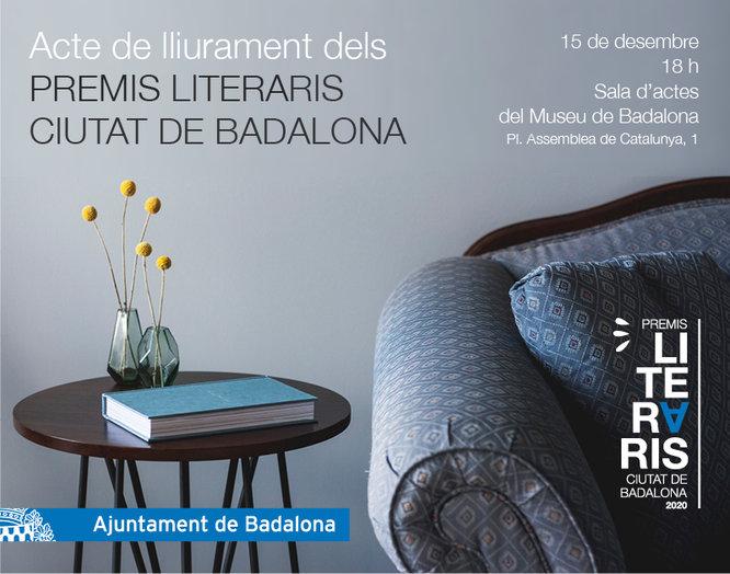 Lliurament dels premis literaris Ciutat de Badalona 2020