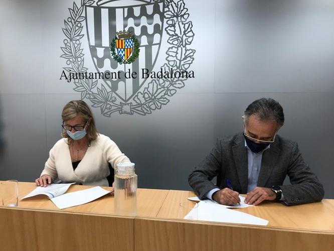 PIMEComerç i l'Ajuntament de Badalona signen un conveni de col·laboració