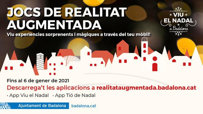 Badalona estrena dues aplicacions mòbils de realitat augmentada amb temàtica de Nadal