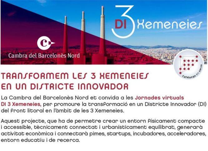 La Cambra del Barcelonès Nord organitza unes jornades virtuals per promoure que l'espai de les Tres Xemeneies es converteixi en un Districte Innovador