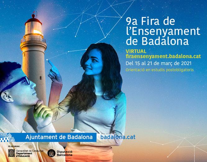 Badalona celebra la 9a Fira de l'Ensenyament amb un seguit d'activitats telemàtiques per orientar al jovent en els seus estudis postobligatoris