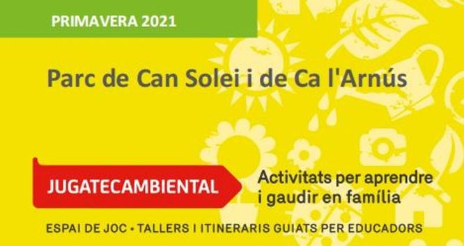 S'inicia el cicle de primavera de la 'Jugatecambiental' del parc de Can Solei i Ca l'Arnús i del Torrent de la Font i del Turó de l'Enric de Badalona