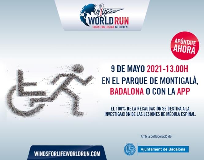 Badalona acollirà el diumenge 9 de maig la cursa solidària Wings for Life World Run