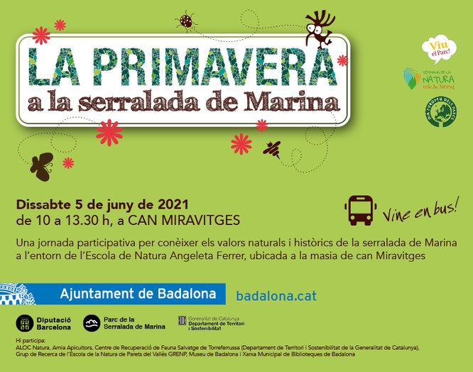 L'entorn de la masia de Can Miravitges acollirà el dissabte 5 de juny la cinquena edició de La primavera a la serralada de Marina