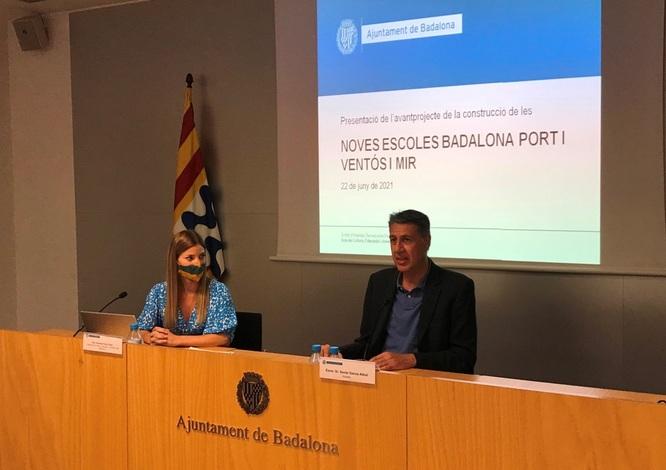 L'Ajuntament presenta l'avantprojecte de les noves escoles Badalona Port i Ventós Mir, que entraran en funcionament durant el curs 2023-2024