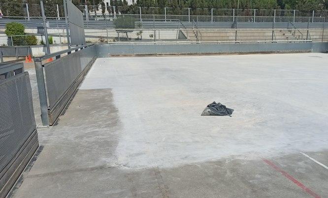 Comencen les obres de reparació de la pista de patinatge de Can Cabanyes